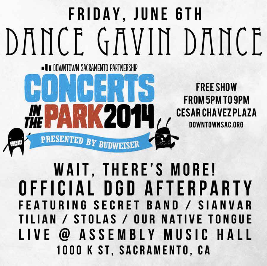 dance gavin dance concert in the park