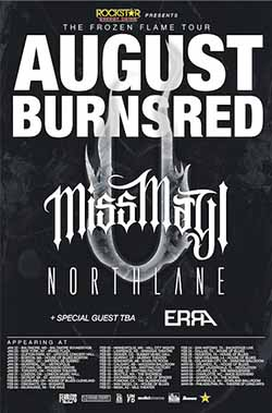 August Burns Record Winter Tour 2015 250